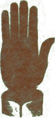 an icon of a human hand print